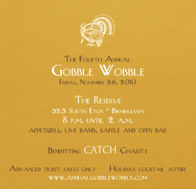 Fourth Annual Gobble Wobble Invite